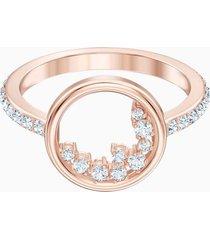 anillo con motivo norte, blanco, baño de oro rosa  5498035