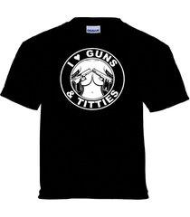 i love guns and titties t-shirt old school chopper outlaw biker 1%er clothing