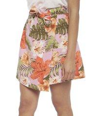 falda vero moda rosa - calce regular