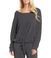 women's barefoot dreams cozychic ultra lite lounge pullover, size x-small - grey