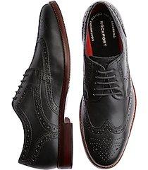 rockport saxxen wingtip black dress shoes