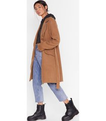 womens grab your faux wool coat - camel