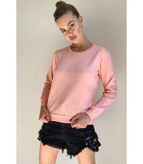 basic sweater, peach