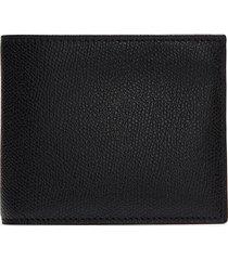 leather bifold wallet - black