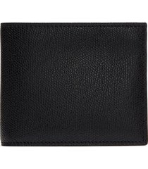 leather bifold wallet - black