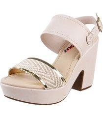 sandalia beige  moleca