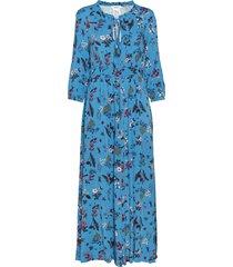 denso maxi dress galajurk blauw max&co.