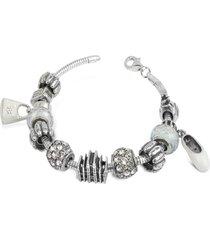 tedora designer bracelets, sterling silver milan charm bracelet