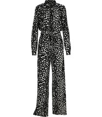 tom ford ikat leopard print crepe jersey zipped jumpsuit