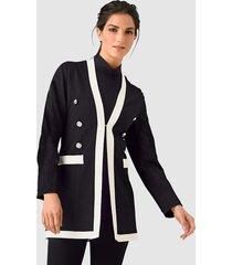 blazer alba moda zwart::offwhite