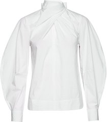blouse blouse lange mouwen wit ganni