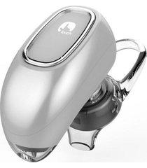audífonos bluetooth, ff beats estereo hd deportivos luciérnaga diseño ocultado auriculares en el oído audifonos manos libres inalámbrico voz recordatorio para sony iphone samsung (plata)