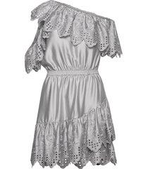 asymmetric broderie anglaise dress kort klänning grå designers, remix