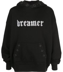 amiri dreamer studded hoodie - black