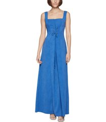 bcbgeneration lace-up maxi dress