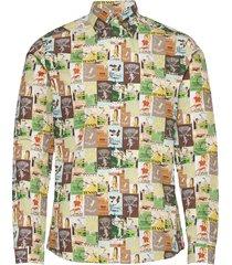 super slim fit business casual poplin shirt overhemd casual multi/patroon eton