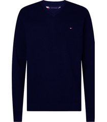 tommy hilfiger big & tall trui v-hals navy