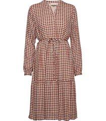 maisa dress knälång klänning brun minus