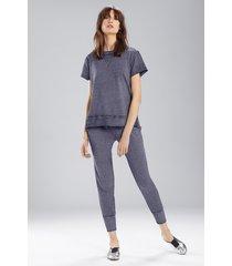new sweat pant pajamas, women's, blue, cotton, size l, josie