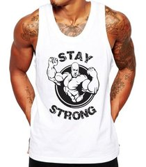 camiseta regata criativa urbana fitness stay strong