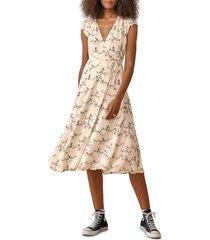 women's reformation carina midi wrap dress, size large - ivory (regular & plus size) (nordstrom exclusive)