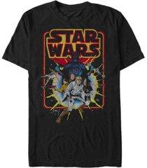 men's star wars old school comic short sleeve t-shirt