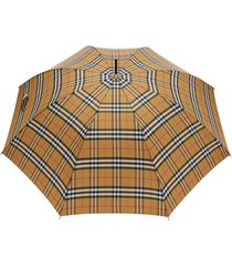 burberry vintage check umbrella - neutro