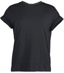 midnight flat cotton short sleeve t-shirt