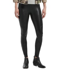 body gloss moto leggings