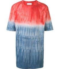 faith connexion tie-dye oversized t-shirt - blue