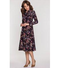 sukienka valery kwiaty czarno-fioletowy