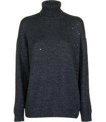 brunello cucinelli cashmere and silk diamond yarn turtleneck sweater