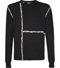 contrast stitched round neck sweatshirt