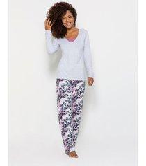 pijama any any visco cinza