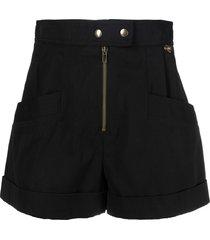 twinset high-waist shorts - black