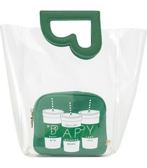 bapy by *a bathing ape® transparent cutout tote bag - green