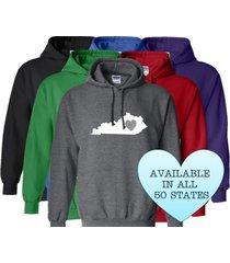 kentucky hoodie sweatshirt love home heart unisex men women state