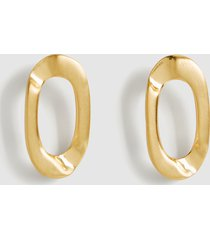 reiss lexi - brushed gold plated earrings in gold, womens