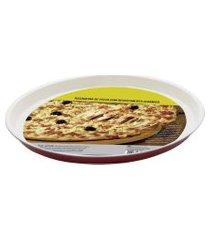 forma assadeira para pizza com revestimento ceramica 37cm - redonda