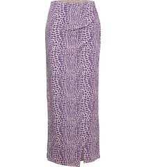 maxi slit skirt knälång kjol lila ivyrevel
