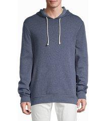 alternative men's basic fleece hoodie - eco true navy - size m