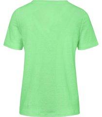 shirt van 100% linnen met ronde hals van maerz muenchen groen
