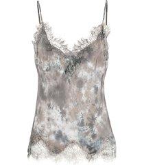 gold hawk abstract print vest - grey