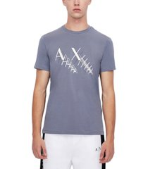 armani exchange men's repeated logo graphic t-shirt