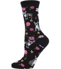 memoi garden pup women's novelty socks