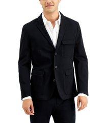 inc men's ponte slim-fit utility blazer, created for macy's