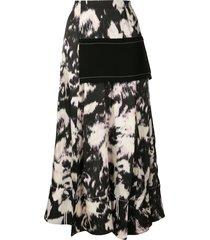 3.1 phillip lim abstract daisy print skirt - black