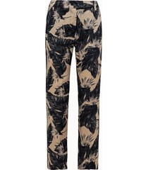 giuliette brown pantalone chino in lino