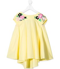 raspberry plum teen jolie bow-tie dress - yellow