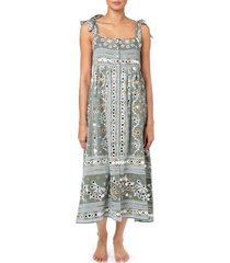juliet dunn nomad print tie dress